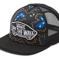 Vans Off The Wall Women's Beach Girl Trucker Snapack Hat Cap - Black/Nautical Blue