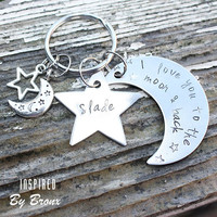 I love you to the Moon and Back, personalized keyring