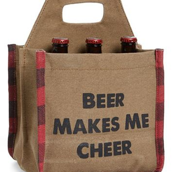 Mona B Beer Makes Me Cheer Beer Caddy | Nordstrom
