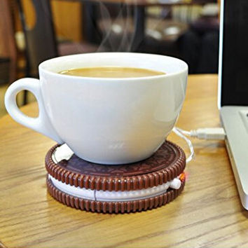 Close Up Hot Cookie Usb Cup Warmer Warm Winter Gift