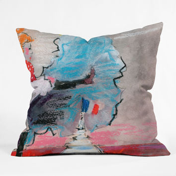 Ginette Fine Art The Last Time I Saw Paris 1 Outdoor Throw Pillow