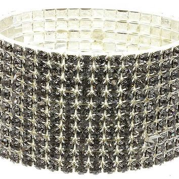 Hematite Stretch Metal Bracelet