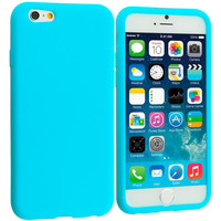 Baby Blue Silicone Soft Skin Rubber Case Cover for Apple iPhone 6 Plus 6S Plus (5.5)