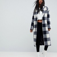 ASOS Check Slim Coat with Pocket Detail at asos.com
