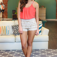 Little Miss Romper - Coral
