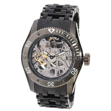 Invicta 10354 Men's Sea Spider Skeleton Silver Dial Mechanical Watch