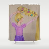 Rapunzel the Lost Princess Shower Curtain by Sierra Christy Art