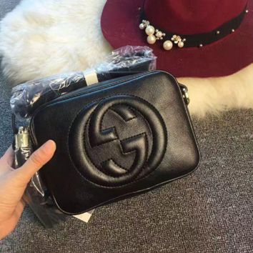CREYV9O Gucci' Women Simple Fashion Classic Logo Embossed Tassel Zip Camera Bag Single Shoulder Messenger Bag