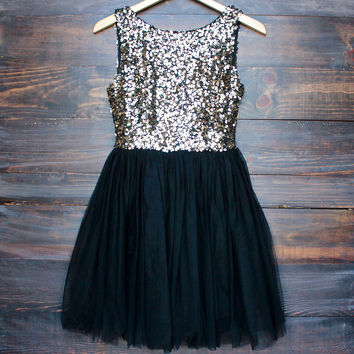 sugar plum dazzling sequin with tulle darling party dress (more colors)