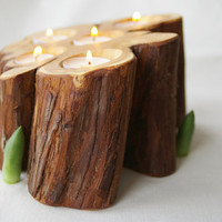 Juniper candle holder, unique candle holder, wooden candle holder, wedding table decor, home decor, rustic decor
