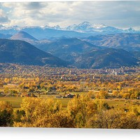 Boulder Colorado Autumn Scenic View Acrylic Print