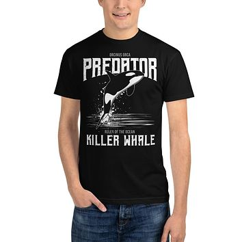Recycled Organic T Shirts Men's Streetwear T Shirt Ethical Tees Vintage Teeshirts Predator Killer Whale