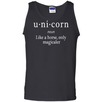 Funny Definition T-shirt for Unicorn and Horse Lover Tank Top