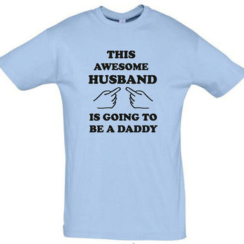 This awesome husband is going to be a daddy,humor shirt,humor tees,gift for husband,gift ideas,birthday gift,husband shirt,awesome shirt