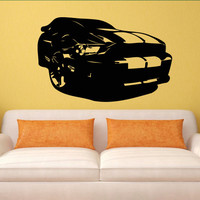 Wall decal decor decals art sticker cars race bolide track speed sport wheel gift bedroom children (m798)