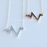 Chic Heartbeat Necklace - Gold & Silver