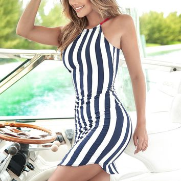 Nautical Stripes Sun Dress