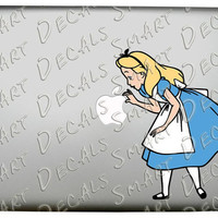 Alice in Wonderland Curiouser Full Color Vinyl Macbook Laptop Decal Sticker Disney