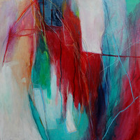 """Expressionist Abstract Painting """"Signs of Life"""""""