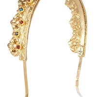 Eugenia Kim | Gold-tone crown headband | NET-A-PORTER.COM
