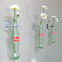 3 CocaCola Bottle Hanging Flower Vases