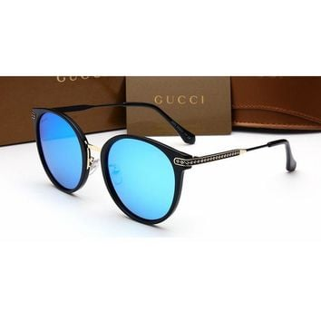 Gucci Chanel Women Casual Sun Shades Eyeglasses Glasses Sunglasses blue G
