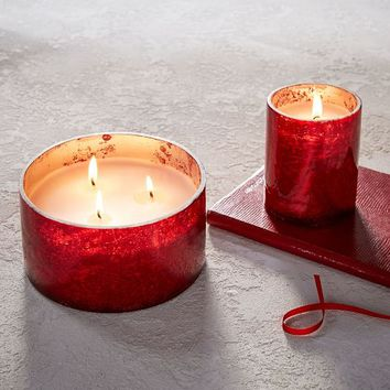 Crackle Mercury Scented Candles - Red