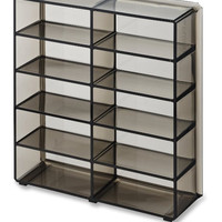 Acrylic Oversized Compact Organizer 10 Space Makeup Storage unit Clear - Black