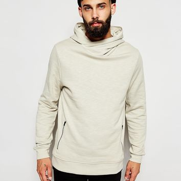 River Island Cross Neck Hoodie