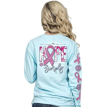 "Simply Southern ""Preppy Hope"" Long Sleeve Tee"