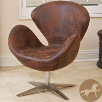 Christopher Knight Home Modern Brown Petal Chair | Overstock.com