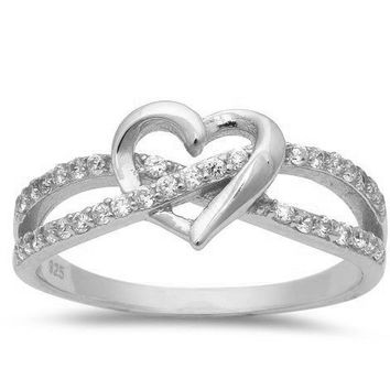 Infinity Love Knot Heart Ring
