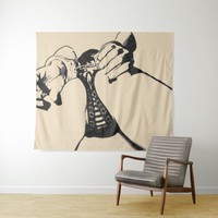Dirty POV, cuffed submissive girl artwork, sexy Tapestry
