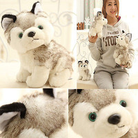 1 X Plush Stuffed Husky Dog Toy Doll Birthday Girlfriend Gift 18cm for Kids