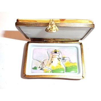 Lighthouse Puzzle Picture Frame Limoges Box