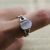 new moon Bella with natural The Moonstone ring  by laurabestgift
