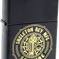 Spitfire Skeleton Key Zippo Lighter Black/Gold