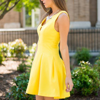Sunny Days Dress, Lemon
