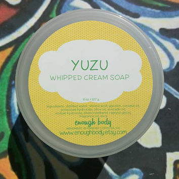 Yuzu Whipped Cream Soap ~ Whipped Soap ~ Cream Soap ~ Foaming Bath Whip ~ Shaving Soap ~ Bath Frosting ~ Soap Fluff ~ Vegan Soap