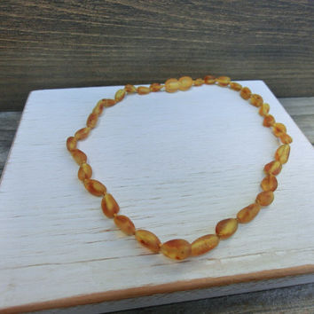Children's Baltic Lithuania Amber Teething and Pain Relief Necklace Jewelry in Polished or Unpolished Beads - by Off on a