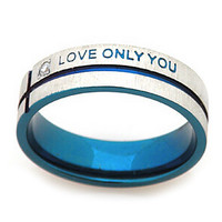 Fashion Love Only You Unisex Silver Titanium Steel Couple Rings(1 Pc)