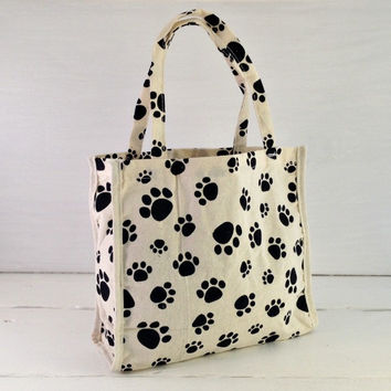 Paw Print Cotton Gift Bag