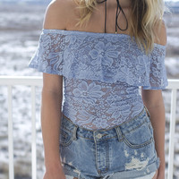 Right For Me Off The Shoulder Lace Bodysuit
