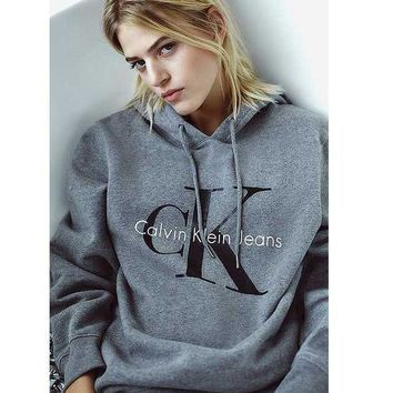 CREYV9O Calvin klein Fashion Long Sleeve Pullover Sweatshirt Top Sweater Hoodie G