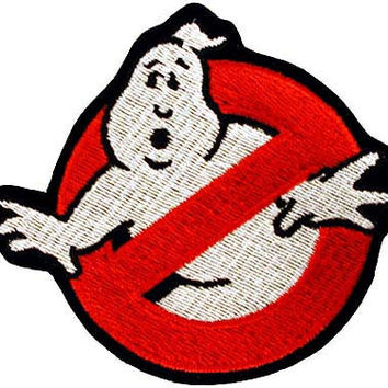 GhostBusters No Ghost Emblem Logo Embroidered Iron On Applique Patch 4 INCH