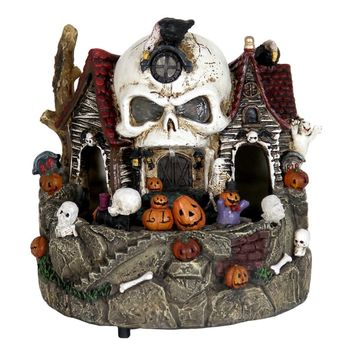Skull House with Moving Train and Timer | Overstock.com Shopping - The Best Deals on Seasonal Decor