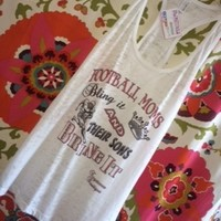 Football, football mom, football mom shirts, shirts, burn out shirts, football moms bling it and their sons bring it, bling it, bling, football mom tanks, tanks, white burn out tanks, burn out tee, burn out t-shirts, t-shirts, ball mom, ball mom shirts, s