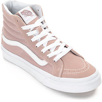 Vans Sk8-Hi Fawn Mauve Womens Skate Shoes