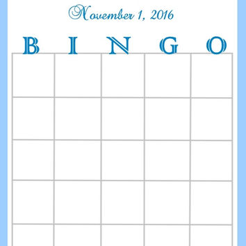 Blue Striped Baby Shower Bingo Cards