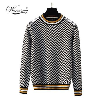 2018 New Harajuku Women Sweaters Spring Retro Plaid Long Sleeve Knitted Sweater Female Casual Pullovers Jumpers  C-246
